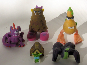 2 Inch Monsters: Batch 01 in Full Color Sandstone