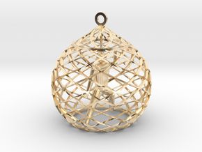 Ornament - Mountain Block in 14k Gold Plated Brass