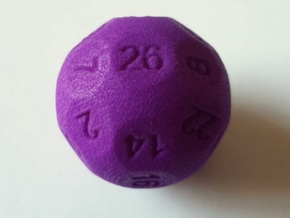 D26 Sphere Dice for Impact! Miniatures in Purple Strong & Flexible Polished