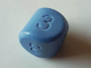 D3 Strange Dice v2 in Glossy Full Color Sandstone