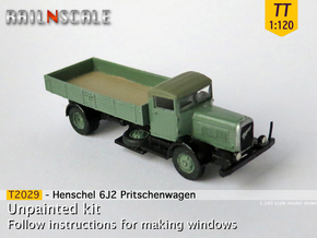 Henschel 6J2 Pritsche (TT 1:120) in Smooth Fine Detail Plastic