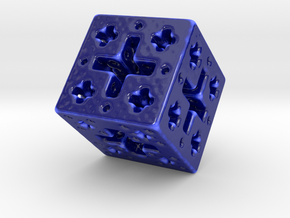 Jcube Fat in Gloss Cobalt Blue Porcelain: Small