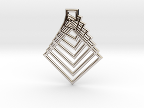 Square in Rhodium Plated Brass