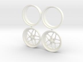 Billet Specialties Win Lite Front 1/12 in White Processed Versatile Plastic