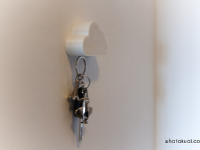 Cloud Shaped Magnetic Key Holder  in White Strong & Flexible