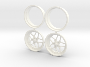 Billet Specialties Win Lite Front 1/18 in White Strong & Flexible Polished