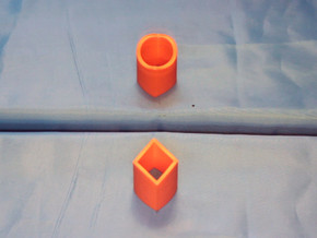 Ambiguous Cylinder Illusion in Orange Processed Versatile Plastic