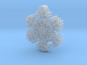 Blizzard Snowflake Earrings in Smooth Fine Detail Plastic