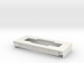 009 Steam tram base in White Natural Versatile Plastic