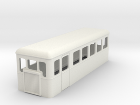 TTn3 double ended railcar  in White Natural Versatile Plastic