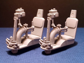 MILLENIUM DEAGO TURRET WELL SEAT SET 1/43 in Frosted Ultra Detail