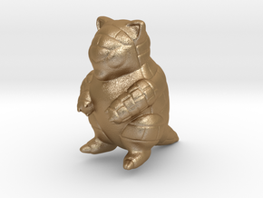 Sandshrew in Matte Gold Steel