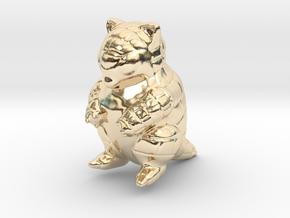 Sandshrew in 14k Gold Plated Brass