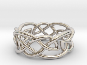 Leaf Celtic Knot Ring in Platinum: 13 / 69