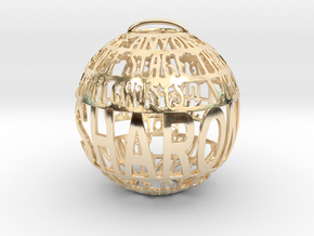 Sharon Quotaball in 14k Gold Plated Brass