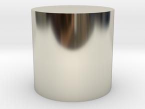 Thinking Cylinder in 14k White Gold: Extra Large