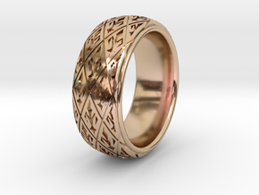 ROYAL 1  in 14k Rose Gold Plated Brass: 10 / 61.5