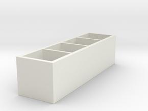 Miniature KALLAX Storage Shelf Unit - IKEA in White Strong & Flexible: 1:12