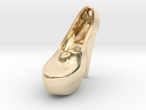 k2b2 left high heeled shoe pendant in 14k Gold Plated Brass