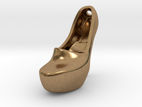 k2b2 right high heeled shoe pendant in Natural Brass