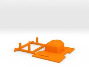 orangeRx UHF 1W JR Module Case Lid in Orange Strong & Flexible Polished