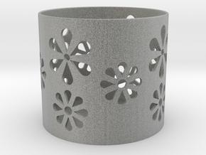 Tealight holder  in Metallic Plastic