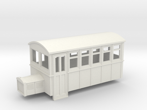 TTn3 4 wheeled railbus version 1 in White Strong & Flexible
