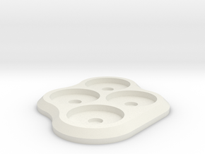 15mm 4-man Mag Tray 2 in White Natural Versatile Plastic