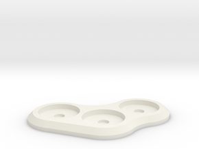 15mm 3-man MagTray 1 in White Strong & Flexible