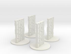 Monoliths in White Natural Versatile Plastic