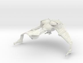 KalBird Of Pray Class  BattleCruiser   Wings Down in White Natural Versatile Plastic