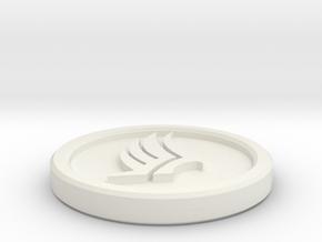 Paragade Coin in White Natural Versatile Plastic