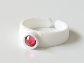 Swarovski Ring for Children in White Processed Versatile Plastic