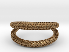 DRAGON Solid Duo, Ring Us Size 10, d=19,8mm in Natural Brass: 10 / 61.5
