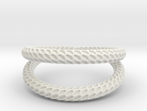DRAGON Solid Duo, Ring Us Size 10, d=19,8mm in White Natural Versatile Plastic: 10 / 61.5