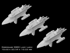 """(Armada) 3x SoroSuub Yacht 3000 """"Lady Luck"""" in Frosted Ultra Detail"""
