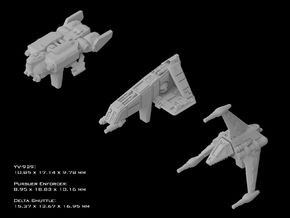 (Armada) Civilian Gunships Set I in Smooth Fine Detail Plastic