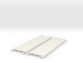 1:24 Walkboards 84x22 in White Natural Versatile Plastic