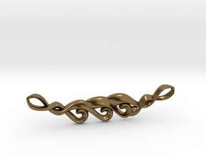Koru Pendant in Polished Bronze