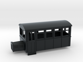 009 4 wheeled railbus version 2 in Black Hi-Def Acrylate