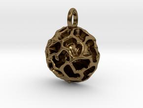 Fossil Acritarch Cymatiosphaera Pendant in Polished Bronze