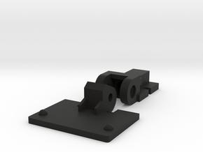 Kenwood P-T400 turntable dust cover hinge in Black Natural Versatile Plastic