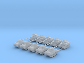 1/400 British Sherman Firefly Tank (10) in Smooth Fine Detail Plastic