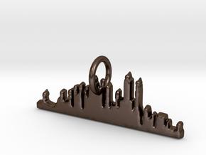 New York Skyline Pendant in Polished Bronze Steel