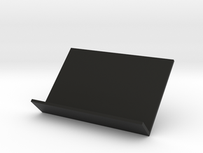 Business Card Stand V2 (card size 8,5x5,5 cm) in Black Natural Versatile Plastic