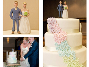 Custom Wedding Cake Toppers in Full Color Sandstone