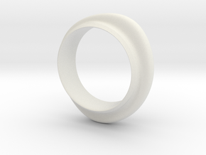 Bracelet A in White Natural Versatile Plastic