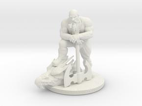 Dwarf Slayer 5in in White Natural Versatile Plastic