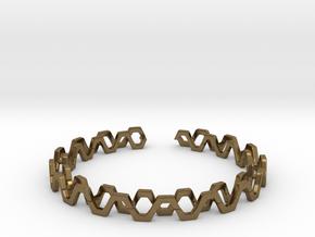 Honey Lines, Bracelet Medium Size d=65mm in Natural Bronze: Medium