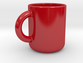 Cup A in Gloss Red Porcelain